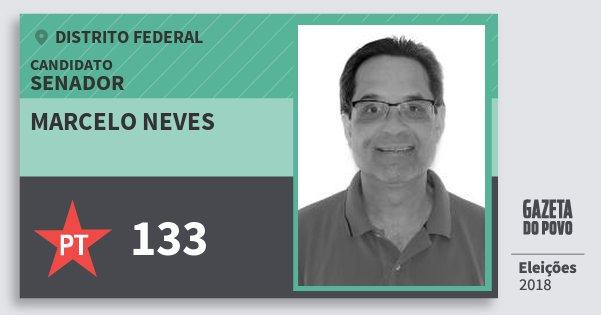 Santinho Marcelo Neves 133 (PT) Senador | Distrito Federal | Eleições 2018