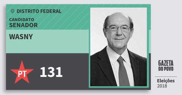 Santinho Wasny 131 (PT) Senador | Distrito Federal | Eleições 2018