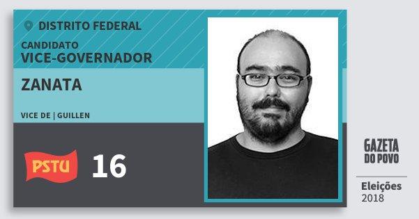 Santinho Zanata 16 (PSTU) Vice-governador | Distrito Federal | Eleições 2018