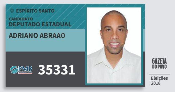 Santinho Adriano Abraao 35331 (PMB) Deputado Estadual | Espírito Santo | Eleições 2018