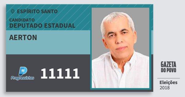 Santinho Aerton 11111 (PP) Deputado Estadual | Espírito Santo | Eleições 2018