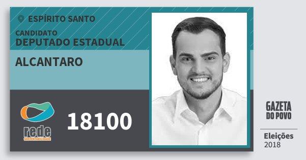 Santinho Alcantaro 18100 (REDE) Deputado Estadual | Espírito Santo | Eleições 2018