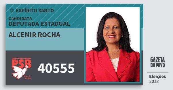 Santinho Alcenir Rocha 40555 (PSB) Deputada Estadual | Espírito Santo | Eleições 2018