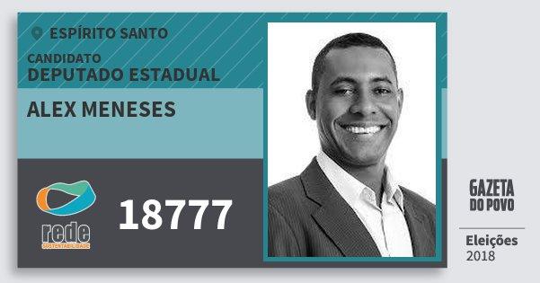 Santinho Alex Meneses 18777 (REDE) Deputado Estadual | Espírito Santo | Eleições 2018