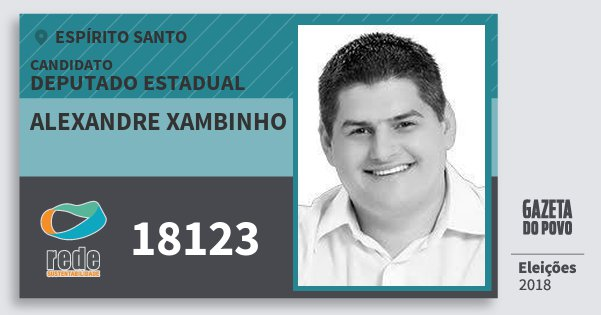 Santinho Alexandre Xambinho 18123 (REDE) Deputado Estadual | Espírito Santo | Eleições 2018