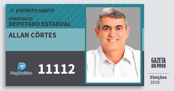 Santinho Allan Côrtes 11112 (PP) Deputado Estadual | Espírito Santo | Eleições 2018