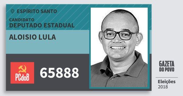 Santinho Aloisio Lula 65888 (PC do B) Deputado Estadual | Espírito Santo | Eleições 2018