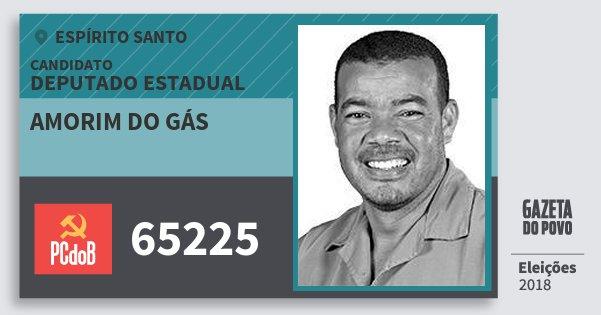 Santinho Amorim do Gás 65225 (PC do B) Deputado Estadual | Espírito Santo | Eleições 2018