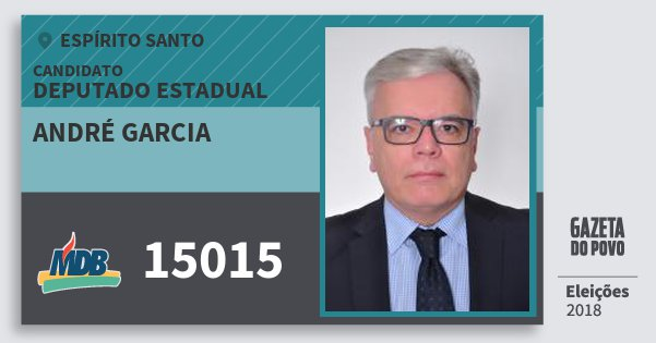 Santinho André Garcia 15015 (MDB) Deputado Estadual | Espírito Santo | Eleições 2018