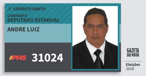Santinho Andre Luiz 31024 (PHS) Deputado Estadual   Espírito Santo   Eleições 2018