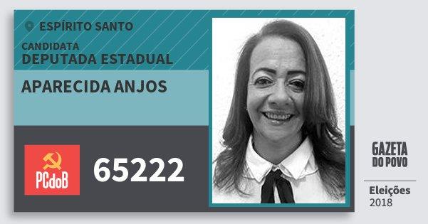 Santinho Aparecida Anjos 65222 (PC do B) Deputada Estadual | Espírito Santo | Eleições 2018