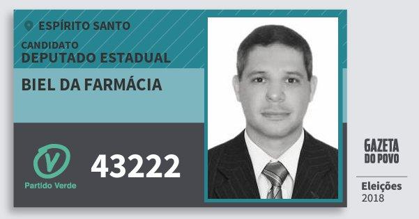 Santinho Biel da Farmácia 43222 (PV) Deputado Estadual | Espírito Santo | Eleições 2018