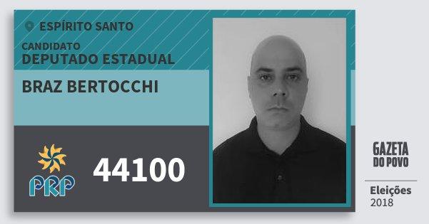 Santinho Braz Bertocchi 44100 (PRP) Deputado Estadual | Espírito Santo | Eleições 2018