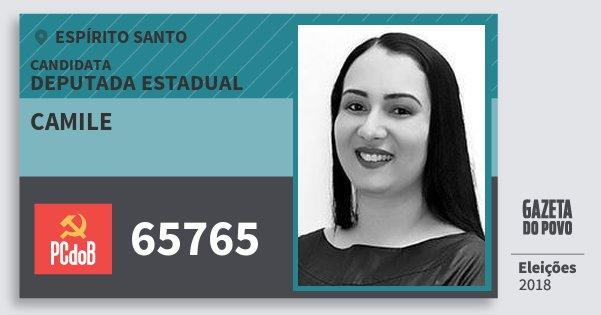 Santinho Camile 65765 (PC do B) Deputada Estadual | Espírito Santo | Eleições 2018
