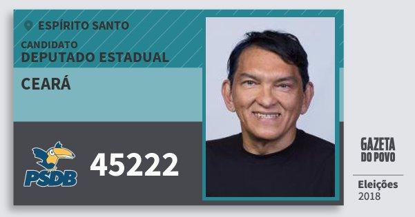 Santinho Ceará 45222 (PSDB) Deputado Estadual | Espírito Santo | Eleições 2018