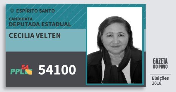 Santinho Cecilia Velten 54100 (PPL) Deputada Estadual | Espírito Santo | Eleições 2018