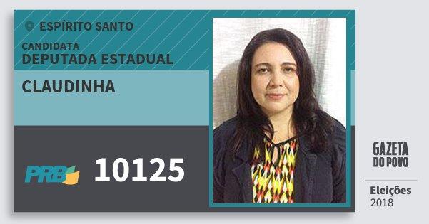 Santinho Claudinha 10125 (PRB) Deputada Estadual | Espírito Santo | Eleições 2018