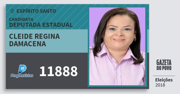 Santinho Cleide Regina Damacena 11888 (PP) Deputada Estadual | Espírito Santo | Eleições 2018
