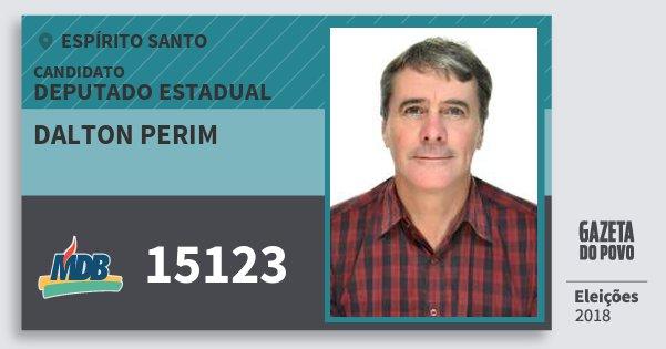 Santinho Dalton Perim 15123 (MDB) Deputado Estadual | Espírito Santo | Eleições 2018