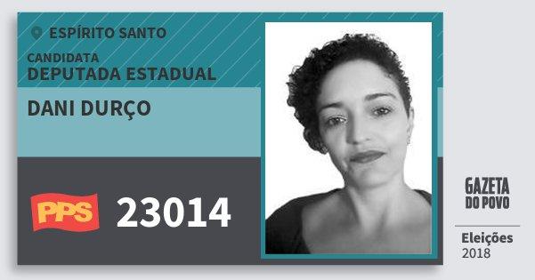 Santinho Dani Durço 23014 (PPS) Deputada Estadual | Espírito Santo | Eleições 2018