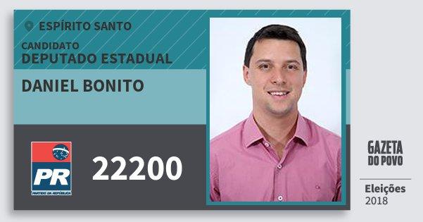 Santinho Daniel Bonito 22200 (PR) Deputado Estadual | Espírito Santo | Eleições 2018