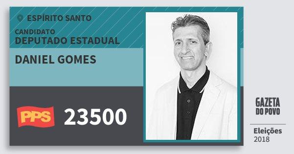 Santinho Daniel Gomes 23500 (PPS) Deputado Estadual | Espírito Santo | Eleições 2018