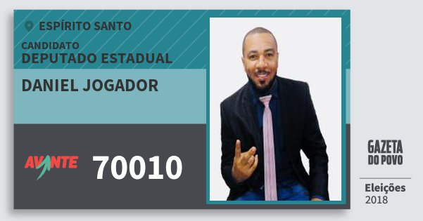 Santinho Daniel Jogador 70010 (AVANTE) Deputado Estadual | Espírito Santo | Eleições 2018