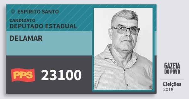 Santinho Delamar 23100 (PPS) Deputado Estadual | Espírito Santo | Eleições 2018