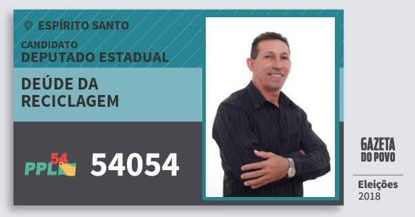 Santinho Deúde da Reciclagem 54054 (PPL) Deputado Estadual | Espírito Santo | Eleições 2018