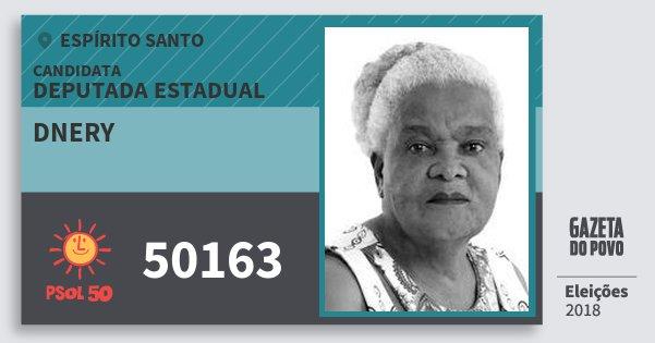 Santinho Dnery 50163 (PSOL) Deputada Estadual   Espírito Santo   Eleições 2018
