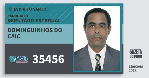 Santinho Dominguinhos do Caic 35456 (PMB) Deputado Estadual | Espírito Santo | Eleições 2018