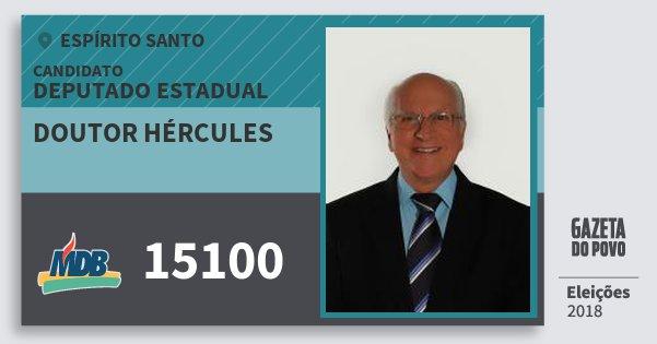 Santinho Doutor Hércules 15100 (MDB) Deputado Estadual | Espírito Santo | Eleições 2018