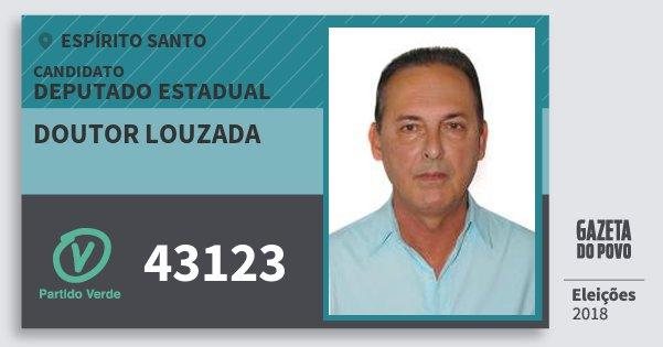 Santinho Doutor Louzada 43123 (PV) Deputado Estadual | Espírito Santo | Eleições 2018