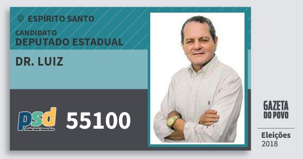 Santinho Dr. Luiz 55100 (PSD) Deputado Estadual | Espírito Santo | Eleições 2018