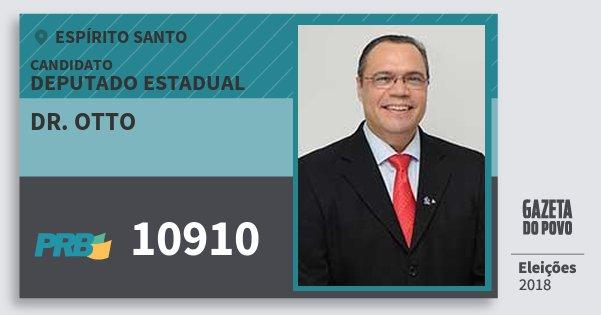 Santinho Dr. Otto 10910 (PRB) Deputado Estadual | Espírito Santo | Eleições 2018