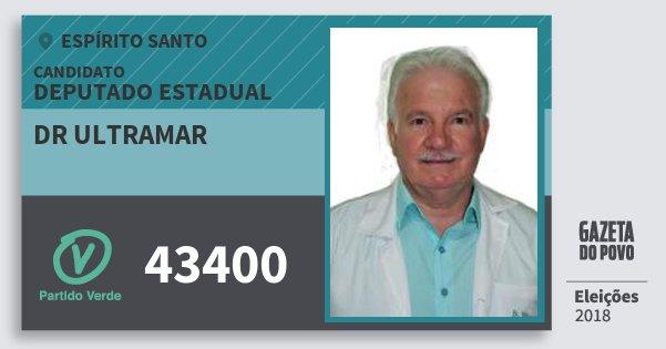 Santinho Dr Ultramar 43400 (PV) Deputado Estadual | Espírito Santo | Eleições 2018