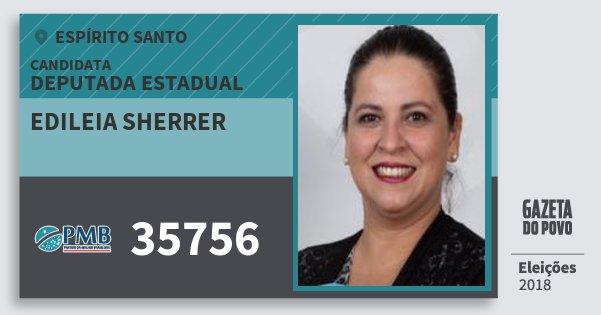 Santinho Edileia Sherrer 35756 (PMB) Deputada Estadual | Espírito Santo | Eleições 2018