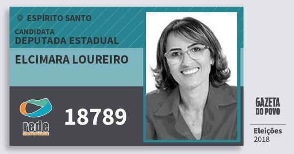 Santinho Elcimara Loureiro 18789 (REDE) Deputada Estadual | Espírito Santo | Eleições 2018