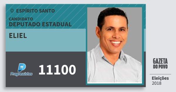 Santinho Eliel 11100 (PP) Deputado Estadual | Espírito Santo | Eleições 2018