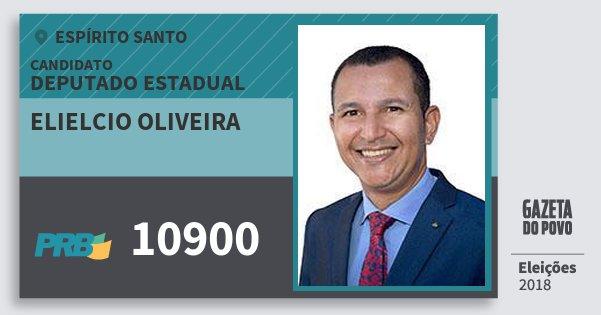 Santinho Elielcio Oliveira 10900 (PRB) Deputado Estadual | Espírito Santo | Eleições 2018