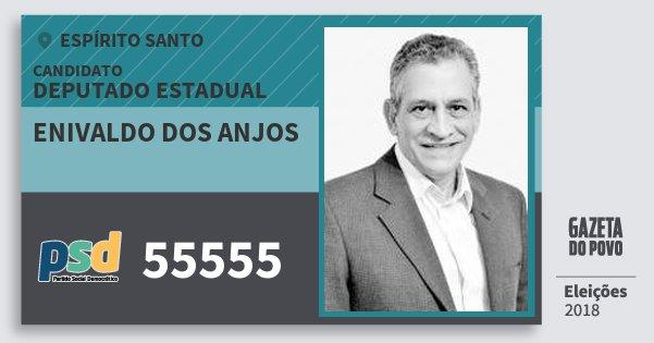 Santinho Enivaldo dos Anjos 55555 (PSD) Deputado Estadual | Espírito Santo | Eleições 2018