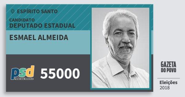 Santinho Esmael Almeida 55000 (PSD) Deputado Estadual | Espírito Santo | Eleições 2018