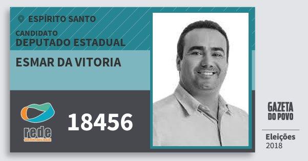 Santinho Esmar da Vitoria 18456 (REDE) Deputado Estadual | Espírito Santo | Eleições 2018
