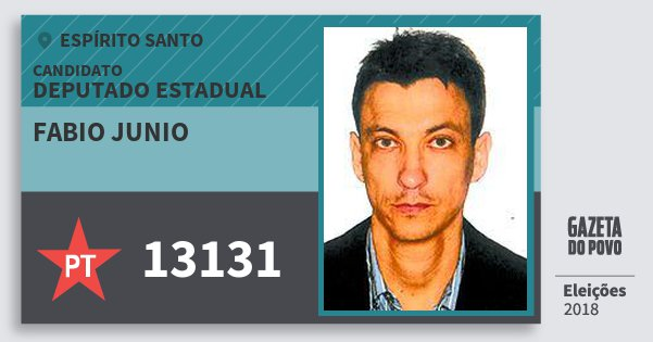 Santinho Fabio Junio 13131 (PT) Deputado Estadual | Espírito Santo | Eleições 2018