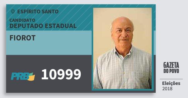 Santinho Fiorot 10999 (PRB) Deputado Estadual | Espírito Santo | Eleições 2018