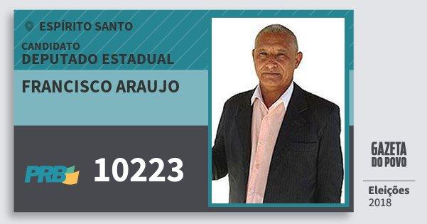 Santinho Francisco Araujo 10223 (PRB) Deputado Estadual | Espírito Santo | Eleições 2018