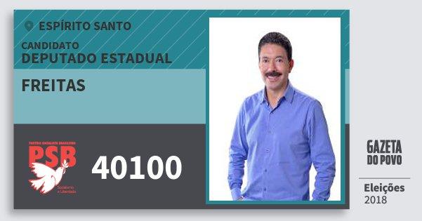 Santinho Freitas 40100 (PSB) Deputado Estadual | Espírito Santo | Eleições 2018