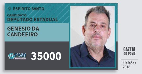 Santinho Genesio da Candeeiro 35000 (PMB) Deputado Estadual | Espírito Santo | Eleições 2018