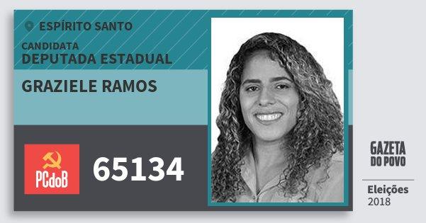 Santinho Graziele Ramos 65134 (PC do B) Deputada Estadual | Espírito Santo | Eleições 2018