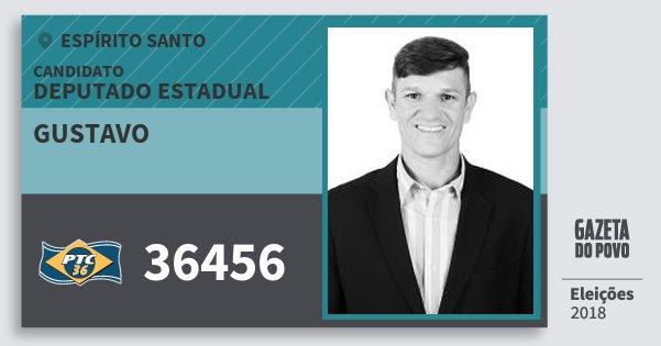Santinho Gustavo 36456 (PTC) Deputado Estadual | Espírito Santo | Eleições 2018